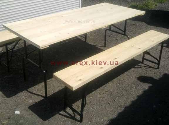 Комплект складной мебели из дерева