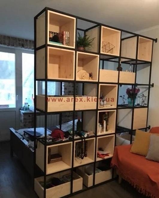 Мебель в стиле Лофт стеллаж ST07