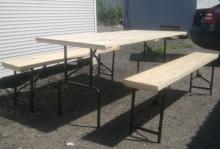 Комплект складной мебели из дерева 1