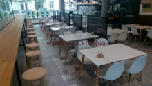 Зонирование кафе интерьер 1